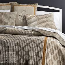 crate and barrel exclusive jaipur orange quilt and pillow shams