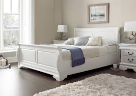 louie  polar white  new  painted wood  wooden beds  beds