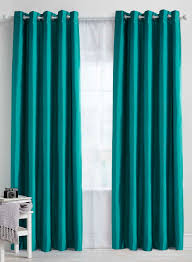 Teal Bedroom Curtains Teal Plain Faux Silk Blackout Thermal Eyelet Curtain Bhs