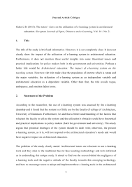 004 Example Research Critique Paper Apa Format Article Museumlegs