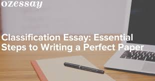 classification essay essential steps to writing a perfect paper