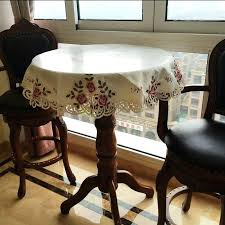 embroidered high end round table cloth large tablecloth small cover patio set