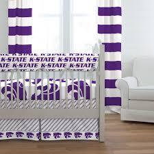 kansas state university crib bedding carousel designs