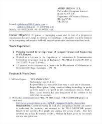 Sample Resume For Computer Science Student Fresher Computer Science Resume  Sample Resume For Computer Science Student