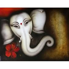 lord ganesha face painting canvas wall art with hibiscus flower on ganesh canvas wall art with buy lord ganesha face painting canvas wall art with hibiscus flower