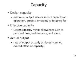 Design Capacity Stevenson 5 Capacity Planning Ppt Download
