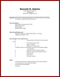 How Do I Do A Resume Classy Sample Resume Work Experience Format College Student Resumes Samples
