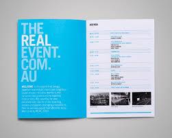 The Real Event Thursday Ideas Design Booklet Design