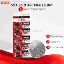 2020 promosyon satış 5 adet 3V maxell CR2032 CR 2032 İzle saat piller düğme  paraları Pilas hesap makinesi lityum pil|Button Cell Batteries