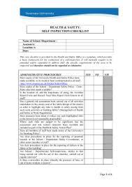 Safety Audit Checklist General Workplace Inspections Checklist