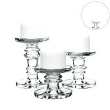 taper candle holders bulk classic glass candlesticks pillar and of 3 whole
