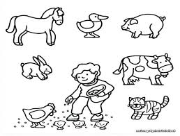 Farm Animal Coloring Pages For Children Online Printable Kids Free