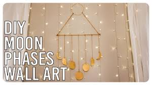 phases of the moon wall art diy