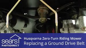 how to replace a husqvarna zero turn riding mower ground drive how to replace a husqvarna zero turn riding mower ground drive belt