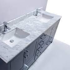 72 Carmela Blue Carrera Countertop Double Sink Bathroom Vanity Bath Floor