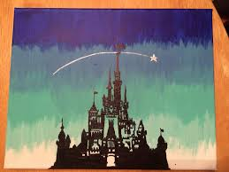 Painting Canvas Painted By Me Disney Canvas Diy Craft Paint Canvas Ideas
