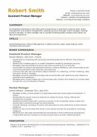 Product Manager Resume Best Assistant Product Manager Resume Samples QwikResume