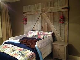Barn door bedroom furniture Contemporary Bedroom Barn Doors Bedroom Barn Door Headboard For Sale Brown Stained Log Wood Bed Combined Poster Bedroom Barn Doors Earnyme Bedroom Barn Doors Barn Door Bed Barn Door Bedroom Furniture Sliding