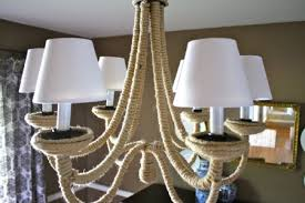 diy rope chandelier makeover i love that featured on remodelaholic