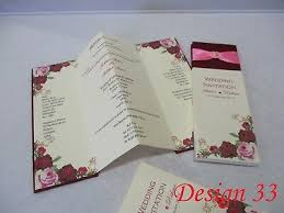 Sample Of Weeding Invitation 4 Folding Wedding Invitations Cards Muslim Asian Sample
