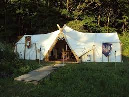 how to make a viking style large tent using two wall tents in the dogtrot middle the viking frame and canvas cover simply brilliant