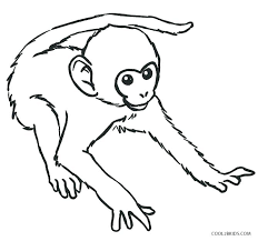 Monkey Coloring Pages To Print Monkey Coloring Pages Print Printable