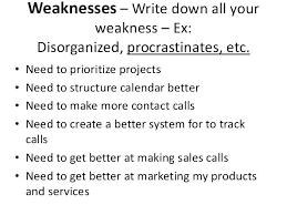Weakness List Resume Pelosleclaire Com