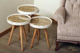 table glass model palm retro cream