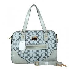 Coach Legacy In Monogram Medium Grey Totes BZF