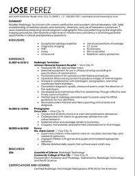 radiology technician sample cover letter