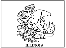 Illinois State Flag Coloring Page Printable State Flag Outlines