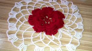 crochet woolen table mat woolen table mat making how to crochet round table mat