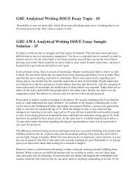 to issues 29 gre analytical writing issue essay