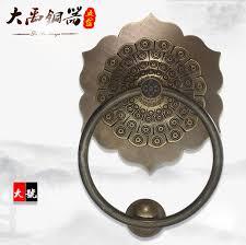 factory direct new chinese copper door ring antique door handle garden pure copper pull ring retro