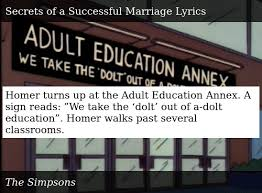 Homer Turns Up At The Adult Education Annex A Sign Reads We