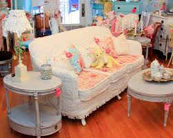 shabby chic furniture living room. Shabby Chic Sofa Slipcovered With Vintage Chenille Bedspreads And Furniture Living Room E