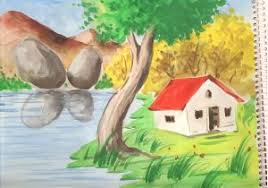 beautiful nature pictures to draw beautiful scenery drawing at