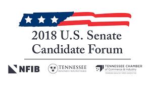 roundtable nfib chamber co host 2018 u s senate forum with blackburn bredesen