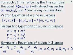 the equation of a line in 3 space you