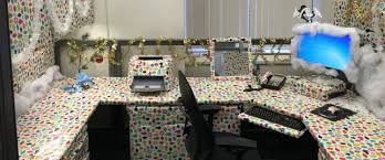 entire office decked. PHOTO: One Office In Washington, D.C. Went Wild With Gift-wrapping For The Entire Decked