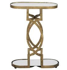 art deco outdoor furniture. Natasha Art Deco Antique Brass Geometric Side End Tables Outdoor Furniture 0