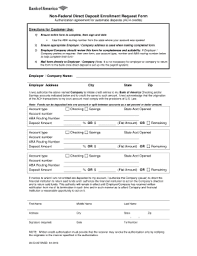 How To Fill Out Direct Deposit Form Bank Of America Direct Deposit Form Fill Out And Sign Printable