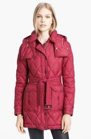 Oh, I love this color. Burberry Brit Quilted Genuine Fox Fur Trim ... & Burberry Brit 'Greysby' Quilted Goose Down Jacket available at #Nordstrom Adamdwight.com