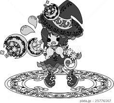 お洒落で可愛い魔法使いの女の子のイラストのイラスト素材 25776167