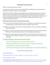 Essay Persuasive Examples Persuasive Research Paper Outline What Is Conclusion In An