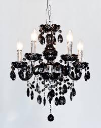 henley black 5 lamp chandelier