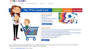toys r us credit card landing page