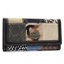 Coach Holiday Logo Medium Coffee Wallets AHL