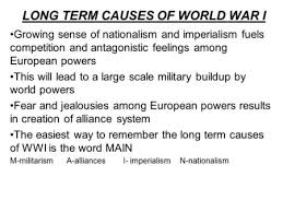 how to write a personal the long term causes of world war  long and short term causes of world war 1 essay salty sweet