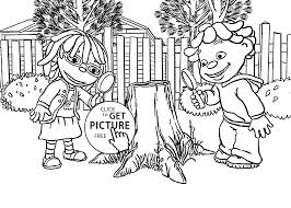 Small Picture May Sid and magnifying glasses coloring pages for kids printable
